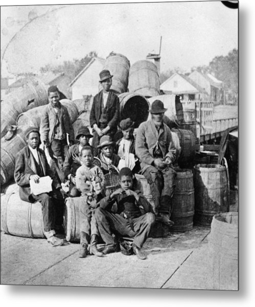Sitting With Cargo Metal Print by Hulton Archive