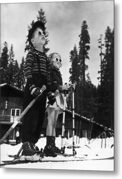 Ski Kids Metal Print