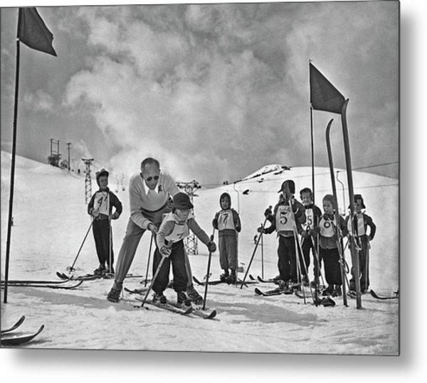 Ski Lesson Metal Print
