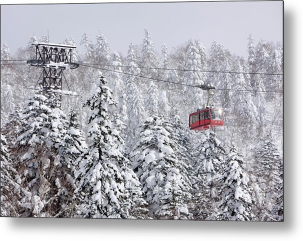 Ski Lift On Asahidake, Daisetsuzan Metal Print by Radius Images