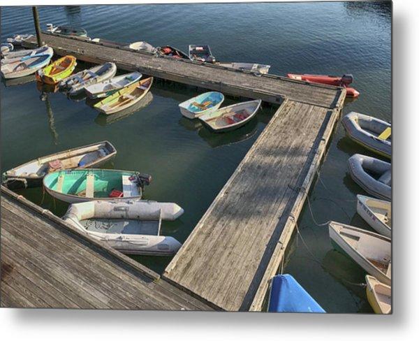 Skiffs In Rockland Harbor Metal Print