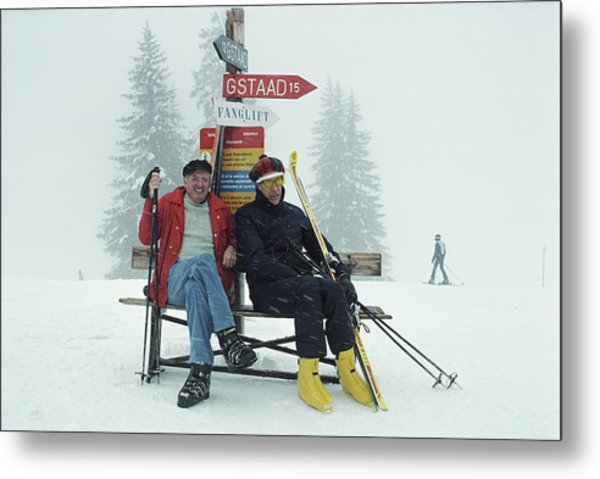 Skiing Holiday Metal Print