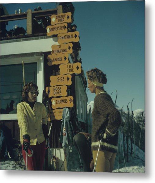 Skiing In Stowe Metal Print
