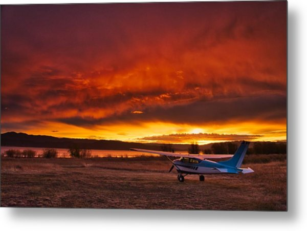 Skylane Sunrise Metal Print