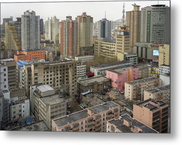 Skyline Urumqi Xinjiang China Metal Print