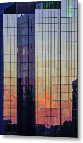 Skyscraper Sunset Metal Print