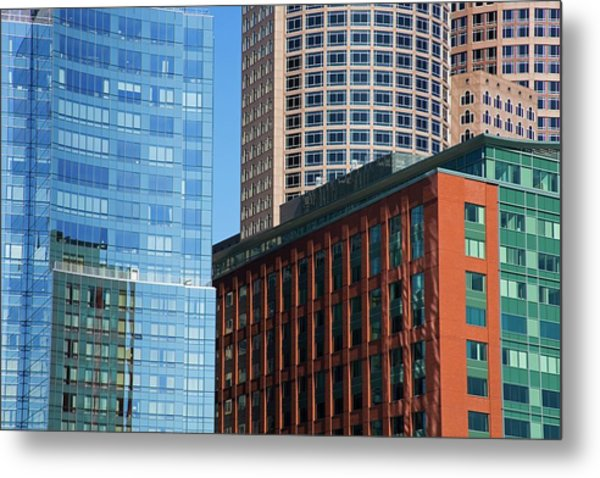 Skyscrapers, Fort Point Channel Metal Print by Design Pics / Richard Cummins