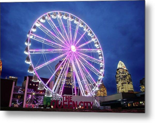 Skystar Ferris Wheel Metal Print