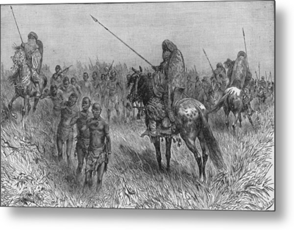 Slave Gang Of Central Africa Metal Print by Kean Collection