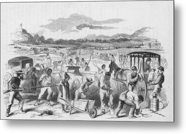 Slaves Forced To Work On Nashvillle Metal Print by Kean Collection