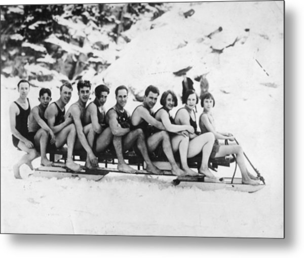 Sledging Metal Print by General Photographic Agency