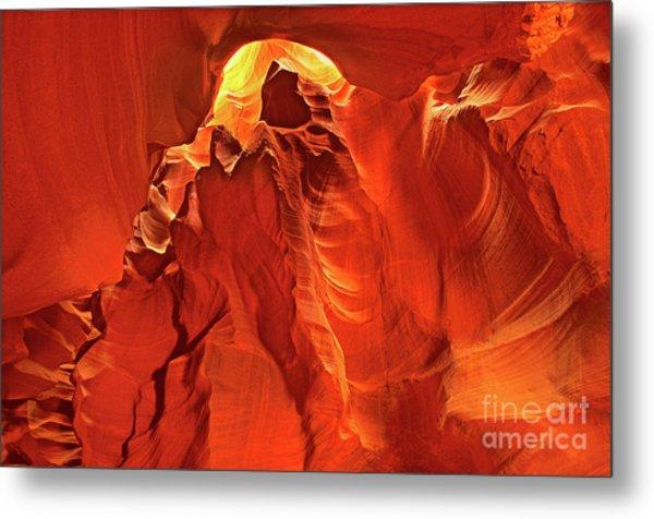 Slot Canyon Formations In Upper Antelope Canyon Arizona Metal Print