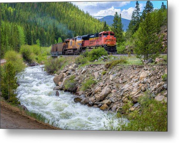 Slow Train Coming Metal Print by G Wigler
