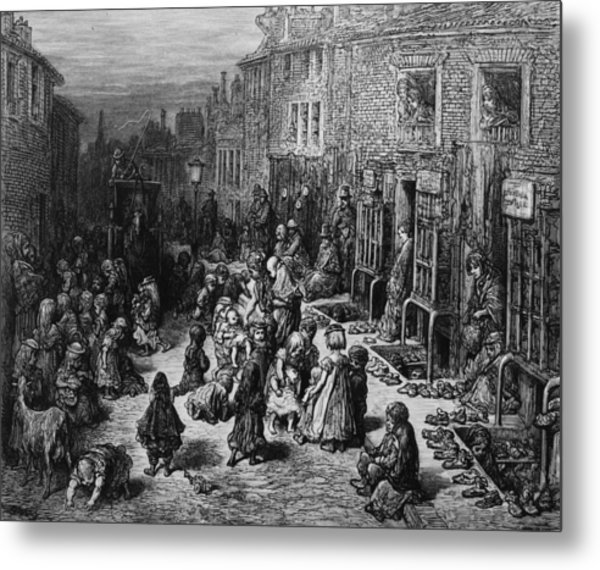 Slum Children Metal Print by Rischgitz