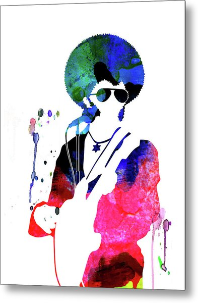 Sly And The Family Stone Watercolor Metal Print