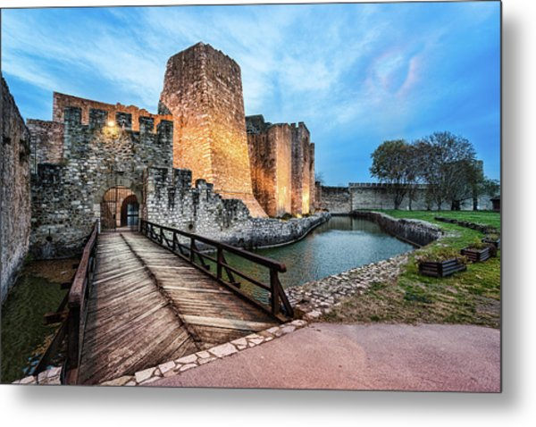 Smederevo Fortress Gate And Bridge Metal Print