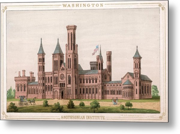 Smithsonian Institute Metal Print by Hulton Archive