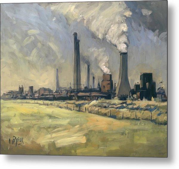 Smoke Stacks Prins Maurits Mine Metal Print