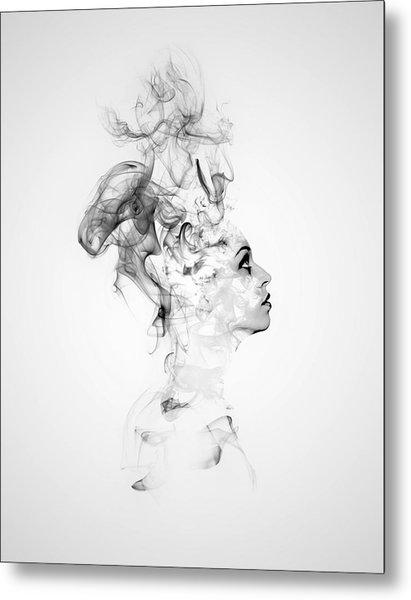 Smoke Woman Metal Print