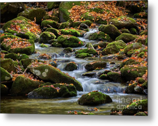 Smokey Mountain Cascades Metal Print