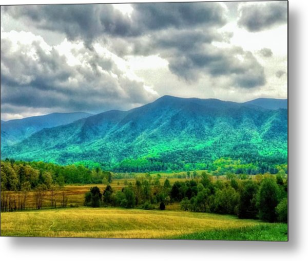 Smoky Mountain Farm Land Metal Print