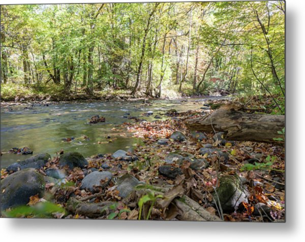 Smoky Mountin Stream Metal Print