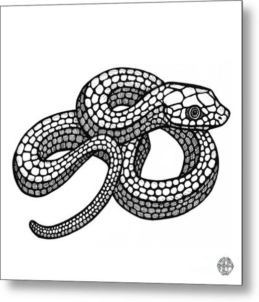 Smooth Green Snake Metal Print