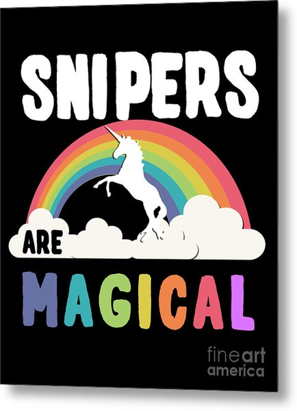 Metal Print featuring the digital art Snipers Are Magical by Flippin Sweet Gear