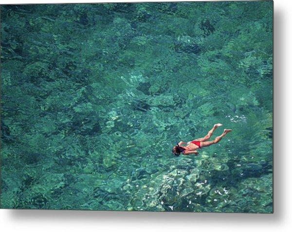 Snorkeling In The Mediterranean Sea Metal Print