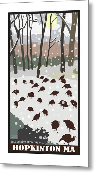 Snow Day In Hopkinton Metal Print