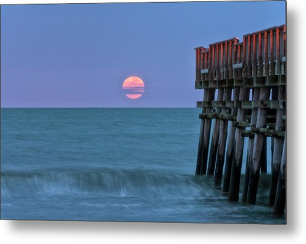 Snow Moon Metal Print