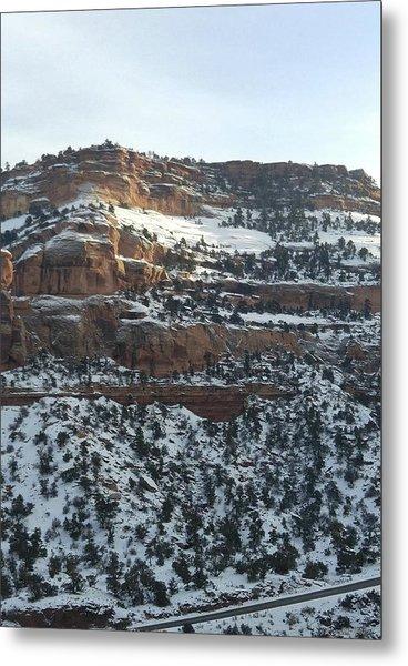 Snow Steps Metal Print