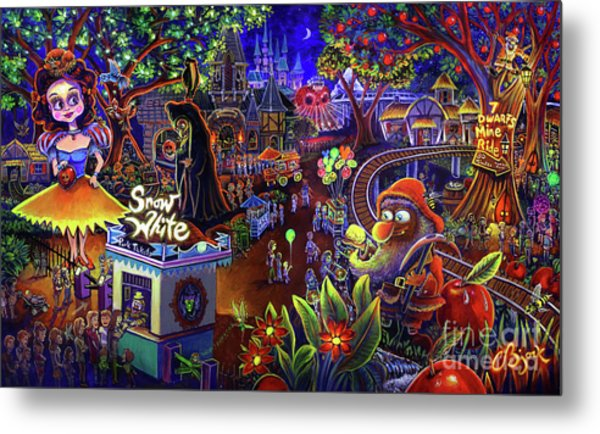 Snow White Amusement Park Metal Print