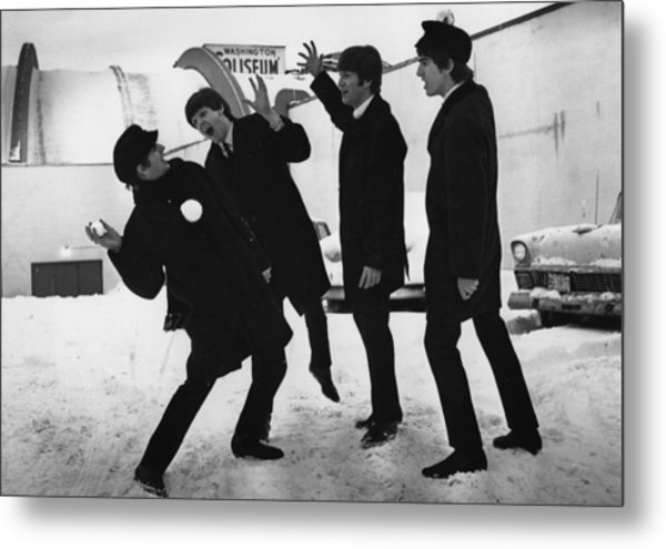 Snowball Beatles Metal Print by Central Press