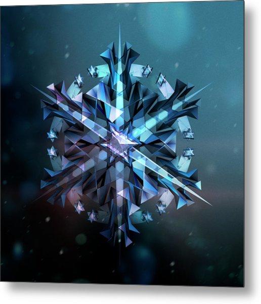 Snowflake 01 Metal Print by Mina De La O