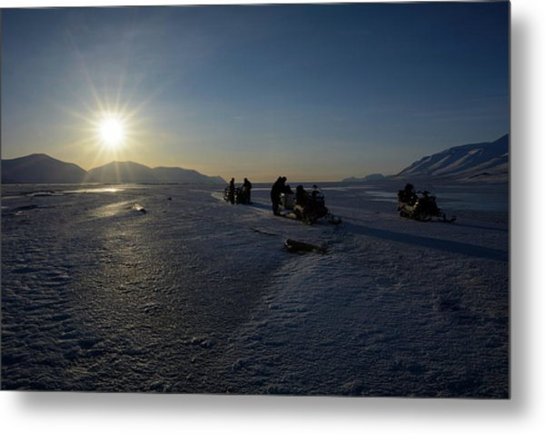 Snowmobile Expeditions Metal Print