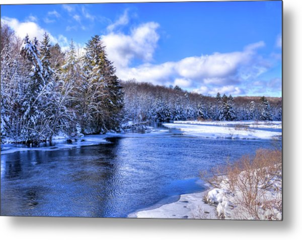 Metal Print featuring the photograph Snowy Banks Of The Moose River by David Patterson