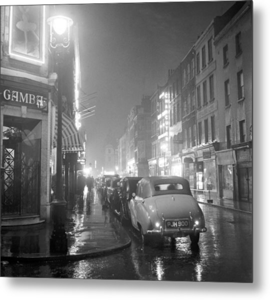 Soho Night Metal Print by Peter Purdy