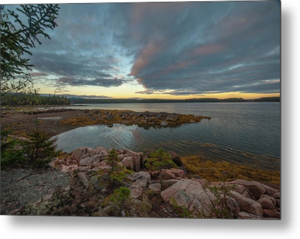 Metal Print featuring the photograph Somes Sound Sunset by Rick Hartigan