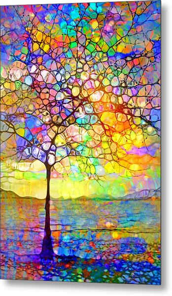 Sometimes We All Need A Little Colour Metal Print