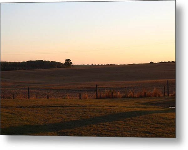 Somme Sunset Metal Print