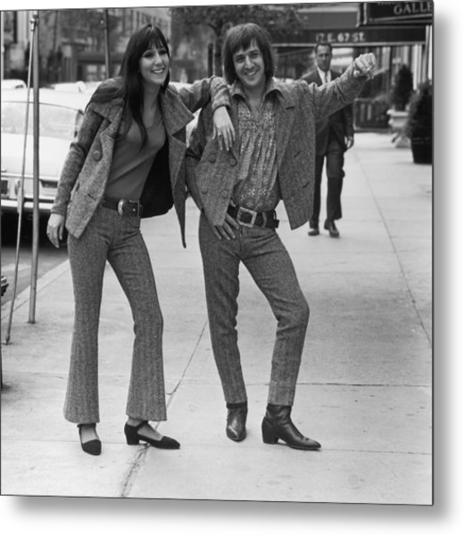 Sonny And Cher Metal Print by Jack Robinson
