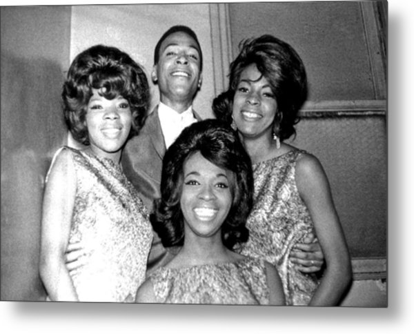 Soul Singers Backstage At The Apollo Metal Print