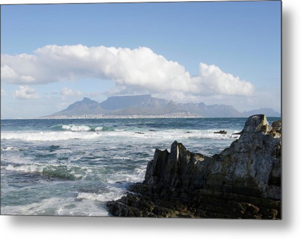 South Africa, Robben Island, View To Metal Print by Tony Souter