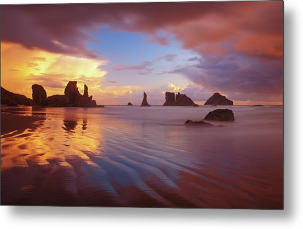 Metal Print featuring the photograph South Coast Sunset by Darren White