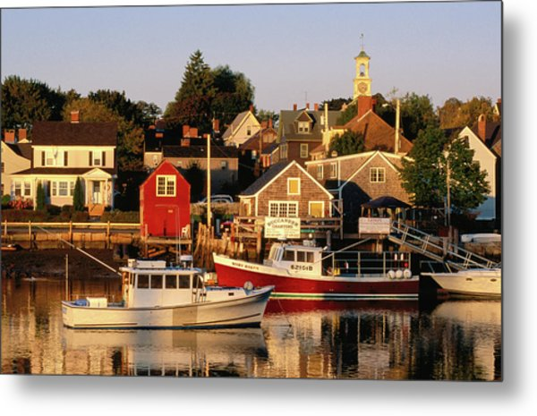 South End, Harbor And Houses Metal Print