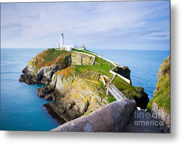 South Stack Lighthouse In Anglesey Metal Print