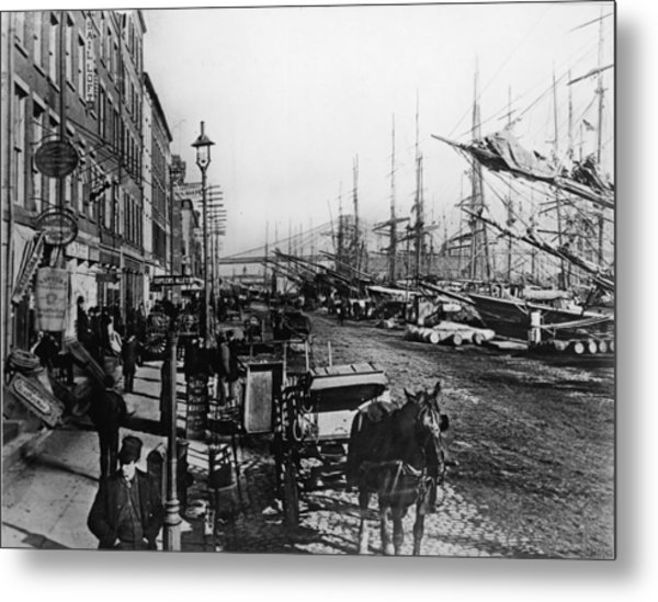 South Street Seaport New York Metal Print by Frederic Lewis