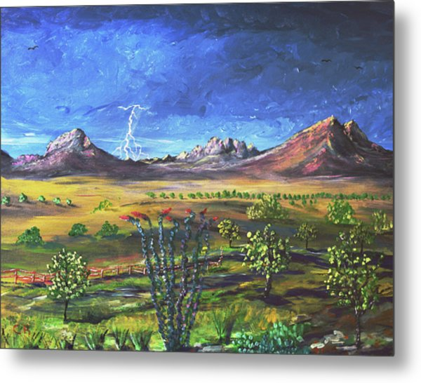 Metal Print featuring the painting Southern Arizona Grandeur  by Chance Kafka