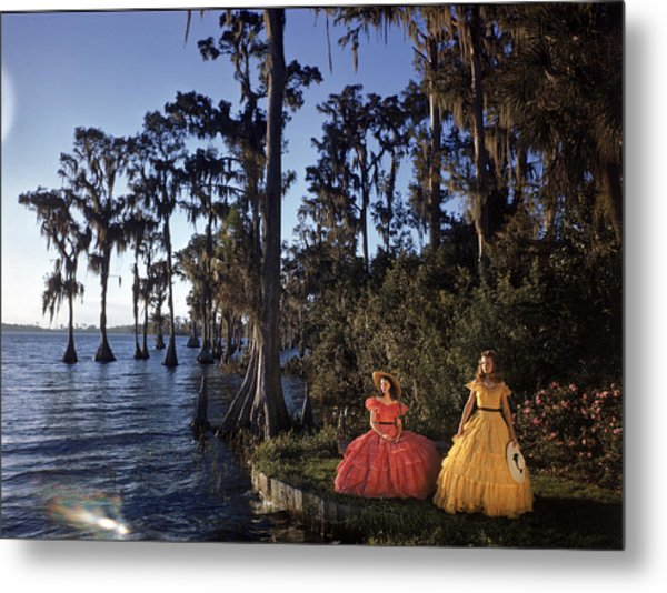 Southern Belles In Cypress Gardens Metal Print by Eliot Elisofon